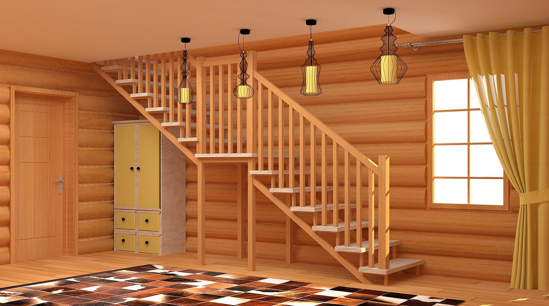 купить деревянную лестницу из дуба