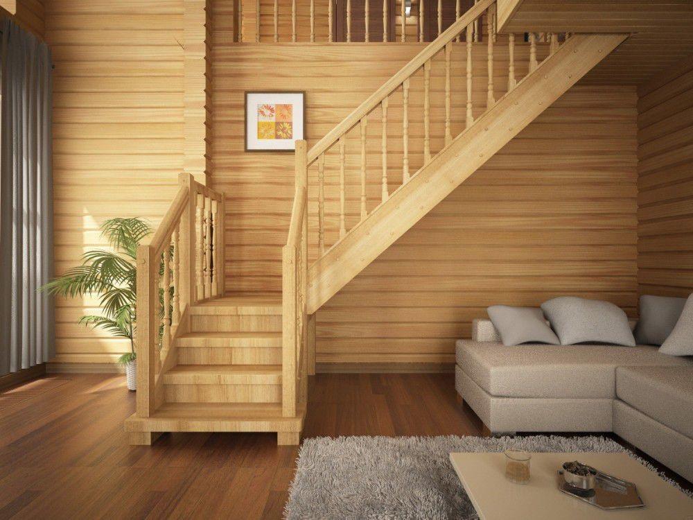 заказать лестницу для дачи дерево