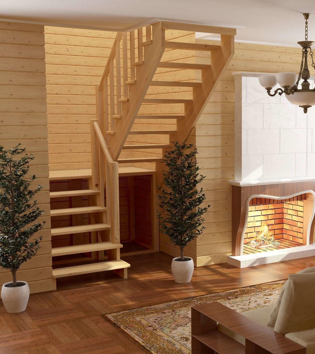 лестницы для дачи деревянные